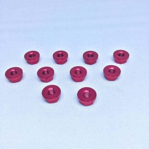 น็อตัวเมียมิเนียม (SEVEN SPEED) NO.10 คละสี (แพ็ค 10 อัน)